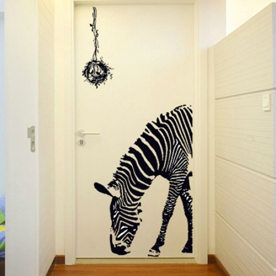 Zebra Eating Grass Wall Art